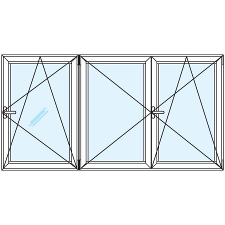 Fen tre alu gamme confort 3 vantaux energy fen tres for Fenetre 3 vantaux alu